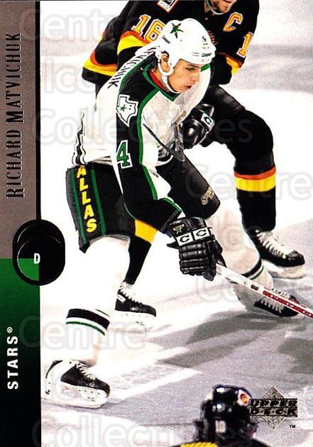 1994-95 Upper Deck #157 Richard Matvichuk<br/>6 In Stock - $1.00 each - <a href=https://centericecollectibles.foxycart.com/cart?name=1994-95%20Upper%20Deck%20%23157%20Richard%20Matvich...&quantity_max=6&price=$1.00&code=183781 class=foxycart> Buy it now! </a>