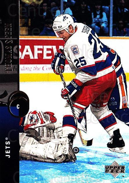 1994-95 Upper Deck #192 Thomas Steen<br/>7 In Stock - $1.00 each - <a href=https://centericecollectibles.foxycart.com/cart?name=1994-95%20Upper%20Deck%20%23192%20Thomas%20Steen...&quantity_max=7&price=$1.00&code=183820 class=foxycart> Buy it now! </a>