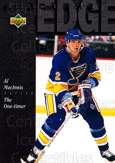 1994-95 Upper Deck #232 Al MacInnis<br/>7 In Stock - $1.00 each - <a href=https://centericecollectibles.foxycart.com/cart?name=1994-95%20Upper%20Deck%20%23232%20Al%20MacInnis...&quantity_max=7&price=$1.00&code=183864 class=foxycart> Buy it now! </a>