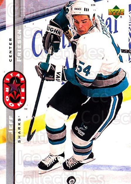 1994-95 Upper Deck #237 Jeff Friesen<br/>6 In Stock - $1.00 each - <a href=https://centericecollectibles.foxycart.com/cart?name=1994-95%20Upper%20Deck%20%23237%20Jeff%20Friesen...&quantity_max=6&price=$1.00&code=183869 class=foxycart> Buy it now! </a>