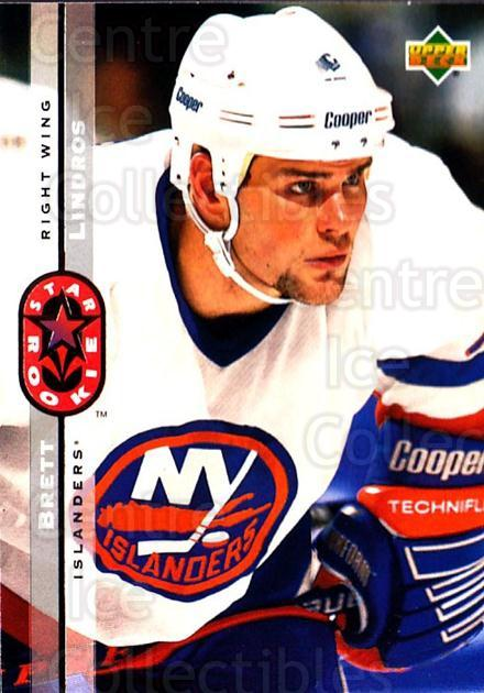 1994-95 Upper Deck #240 Brett Lindros<br/>4 In Stock - $1.00 each - <a href=https://centericecollectibles.foxycart.com/cart?name=1994-95%20Upper%20Deck%20%23240%20Brett%20Lindros...&quantity_max=4&price=$1.00&code=183873 class=foxycart> Buy it now! </a>