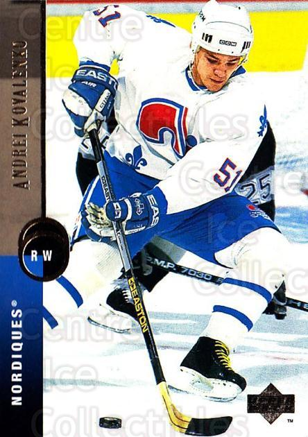 1994-95 Upper Deck #272 Andrei Kovalenko<br/>6 In Stock - $1.00 each - <a href=https://centericecollectibles.foxycart.com/cart?name=1994-95%20Upper%20Deck%20%23272%20Andrei%20Kovalenk...&quantity_max=6&price=$1.00&code=183906 class=foxycart> Buy it now! </a>