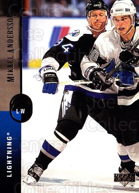 1994-95 Upper Deck #297 Mikael Andersson<br/>6 In Stock - $1.00 each - <a href=https://centericecollectibles.foxycart.com/cart?name=1994-95%20Upper%20Deck%20%23297%20Mikael%20Andersso...&quantity_max=6&price=$1.00&code=183933 class=foxycart> Buy it now! </a>
