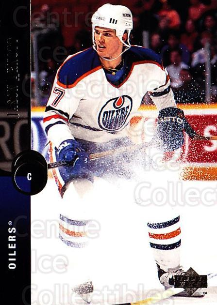 1994-95 Upper Deck #305 Jason Arnott<br/>5 In Stock - $1.00 each - <a href=https://centericecollectibles.foxycart.com/cart?name=1994-95%20Upper%20Deck%20%23305%20Jason%20Arnott...&quantity_max=5&price=$1.00&code=183943 class=foxycart> Buy it now! </a>