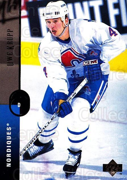 1994-95 Upper Deck #310 Uwe Krupp<br/>7 In Stock - $1.00 each - <a href=https://centericecollectibles.foxycart.com/cart?name=1994-95%20Upper%20Deck%20%23310%20Uwe%20Krupp...&quantity_max=7&price=$1.00&code=183949 class=foxycart> Buy it now! </a>