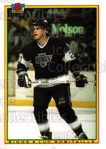 1990-91 Bowman Tiffany #152 Luc Robitaille<br/>11 In Stock - $2.00 each - <a href=https://centericecollectibles.foxycart.com/cart?name=1990-91%20Bowman%20Tiffany%20%23152%20Luc%20Robitaille...&quantity_max=11&price=$2.00&code=18399 class=foxycart> Buy it now! </a>