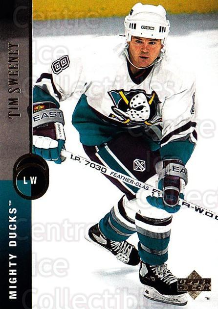 1994-95 Upper Deck #38 Tim Sweeney<br/>7 In Stock - $1.00 each - <a href=https://centericecollectibles.foxycart.com/cart?name=1994-95%20Upper%20Deck%20%2338%20Tim%20Sweeney...&quantity_max=7&price=$1.00&code=184022 class=foxycart> Buy it now! </a>