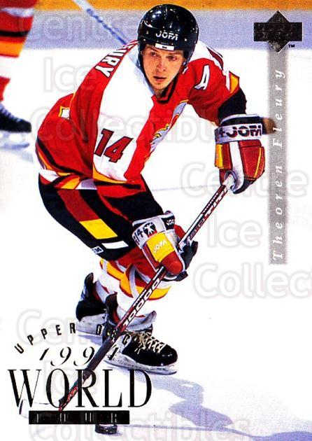 1994-95 Upper Deck #566 Theo Fleury<br/>6 In Stock - $1.00 each - <a href=https://centericecollectibles.foxycart.com/cart?name=1994-95%20Upper%20Deck%20%23566%20Theo%20Fleury...&quantity_max=6&price=$1.00&code=184223 class=foxycart> Buy it now! </a>