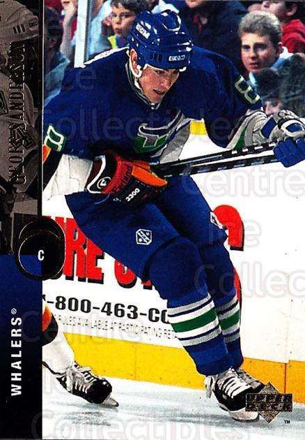 1994-95 Upper Deck #6 Geoff Sanderson<br/>5 In Stock - $1.00 each - <a href=https://centericecollectibles.foxycart.com/cart?name=1994-95%20Upper%20Deck%20%236%20Geoff%20Sanderson...&quantity_max=5&price=$1.00&code=184231 class=foxycart> Buy it now! </a>