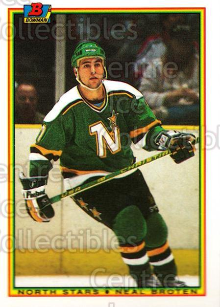 1990-91 Bowman Tiffany #178 Neal Broten<br/>12 In Stock - $2.00 each - <a href=https://centericecollectibles.foxycart.com/cart?name=1990-91%20Bowman%20Tiffany%20%23178%20Neal%20Broten...&quantity_max=12&price=$2.00&code=18426 class=foxycart> Buy it now! </a>