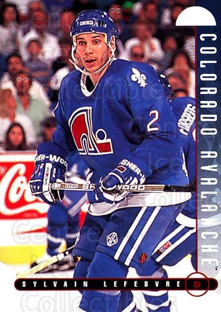 1995-96 Leaf #292 Sylvain Lefebvre<br/>4 In Stock - $1.00 each - <a href=https://centericecollectibles.foxycart.com/cart?name=1995-96%20Leaf%20%23292%20Sylvain%20Lefebvr...&quantity_max=4&price=$1.00&code=184356 class=foxycart> Buy it now! </a>