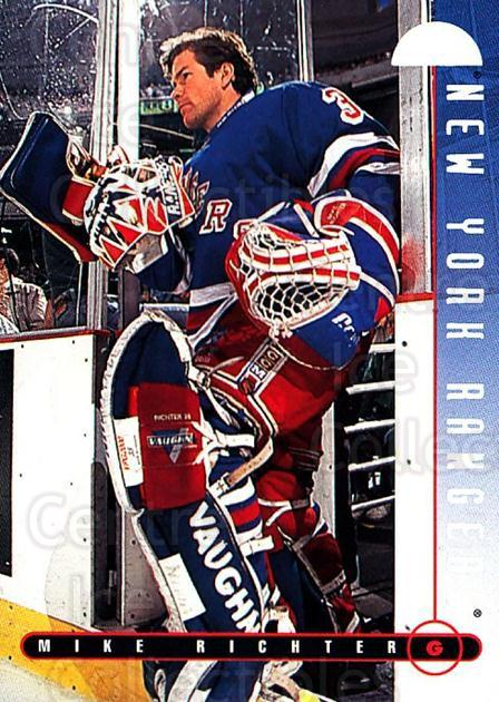 1995-96 Leaf #42 Mike Richter<br/>4 In Stock - $1.00 each - <a href=https://centericecollectibles.foxycart.com/cart?name=1995-96%20Leaf%20%2342%20Mike%20Richter...&quantity_max=4&price=$1.00&code=184405 class=foxycart> Buy it now! </a>
