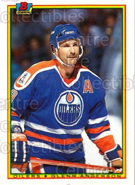 1990-91 Bowman Tiffany #195 Glenn Anderson<br/>12 In Stock - $2.00 each - <a href=https://centericecollectibles.foxycart.com/cart?name=1990-91%20Bowman%20Tiffany%20%23195%20Glenn%20Anderson...&quantity_max=12&price=$2.00&code=18443 class=foxycart> Buy it now! </a>