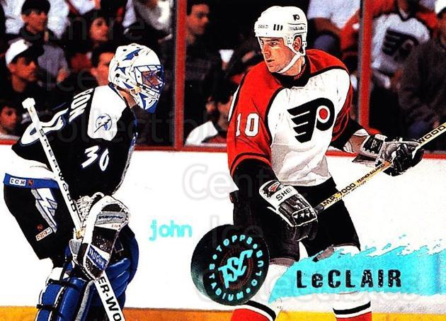 1995-96 Stadium Club #77 John LeClair<br/>4 In Stock - $1.00 each - <a href=https://centericecollectibles.foxycart.com/cart?name=1995-96%20Stadium%20Club%20%2377%20John%20LeClair...&quantity_max=4&price=$1.00&code=184696 class=foxycart> Buy it now! </a>