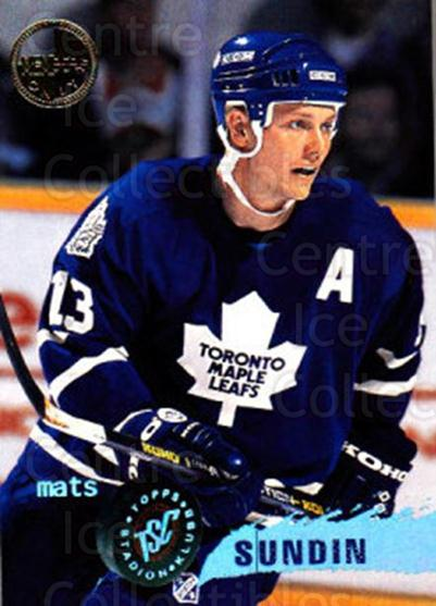 1995-96 Stadium Club Members Only #75 Mats Sundin<br/>6 In Stock - $3.00 each - <a href=https://centericecollectibles.foxycart.com/cart?name=1995-96%20Stadium%20Club%20Members%20Only%20%2375%20Mats%20Sundin...&quantity_max=6&price=$3.00&code=184747 class=foxycart> Buy it now! </a>
