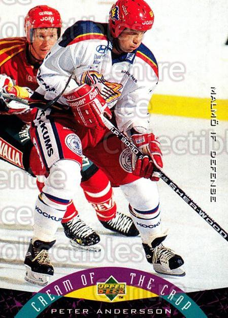 1995-96 Swedish Upper Deck #257 Peter Andersson<br/>9 In Stock - $2.00 each - <a href=https://centericecollectibles.foxycart.com/cart?name=1995-96%20Swedish%20Upper%20Deck%20%23257%20Peter%20Andersson...&quantity_max=9&price=$2.00&code=184780 class=foxycart> Buy it now! </a>