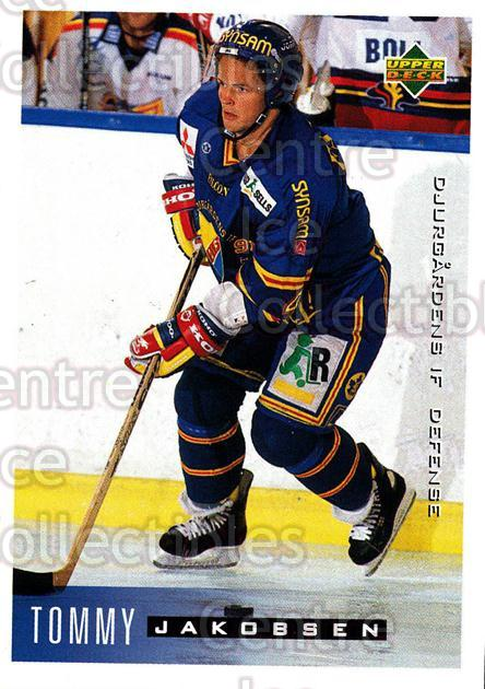 1995-96 Swedish Upper Deck #38 Tommy Jakobsen<br/>8 In Stock - $2.00 each - <a href=https://centericecollectibles.foxycart.com/cart?name=1995-96%20Swedish%20Upper%20Deck%20%2338%20Tommy%20Jakobsen...&price=$2.00&code=184789 class=foxycart> Buy it now! </a>