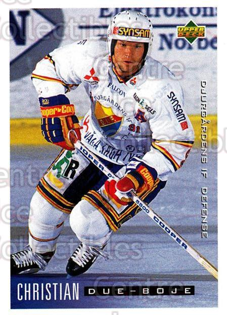 1995-96 Swedish Upper Deck #39 Christian Due-Boje<br/>9 In Stock - $2.00 each - <a href=https://centericecollectibles.foxycart.com/cart?name=1995-96%20Swedish%20Upper%20Deck%20%2339%20Christian%20Due-B...&price=$2.00&code=184790 class=foxycart> Buy it now! </a>