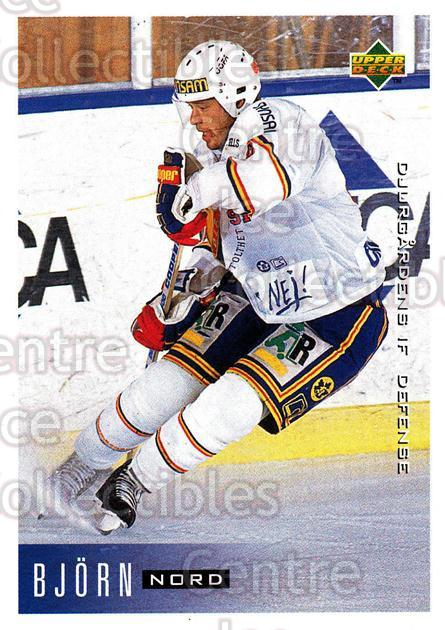 1995-96 Swedish Upper Deck #42 Bjorn Nord<br/>10 In Stock - $2.00 each - <a href=https://centericecollectibles.foxycart.com/cart?name=1995-96%20Swedish%20Upper%20Deck%20%2342%20Bjorn%20Nord...&price=$2.00&code=184792 class=foxycart> Buy it now! </a>