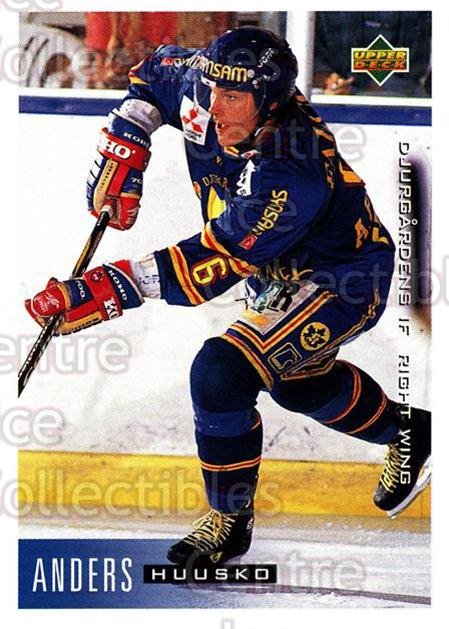 1995-96 Swedish Upper Deck #45 Anders Huusko<br/>8 In Stock - $2.00 each - <a href=https://centericecollectibles.foxycart.com/cart?name=1995-96%20Swedish%20Upper%20Deck%20%2345%20Anders%20Huusko...&price=$2.00&code=184793 class=foxycart> Buy it now! </a>