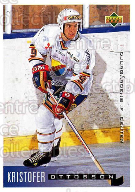 1995-96 Swedish Upper Deck #46 Kristofer Ottosson<br/>9 In Stock - $2.00 each - <a href=https://centericecollectibles.foxycart.com/cart?name=1995-96%20Swedish%20Upper%20Deck%20%2346%20Kristofer%20Ottos...&price=$2.00&code=184794 class=foxycart> Buy it now! </a>