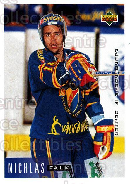 1995-96 Swedish Upper Deck #48 Niklas Falk<br/>10 In Stock - $2.00 each - <a href=https://centericecollectibles.foxycart.com/cart?name=1995-96%20Swedish%20Upper%20Deck%20%2348%20Niklas%20Falk...&price=$2.00&code=184796 class=foxycart> Buy it now! </a>