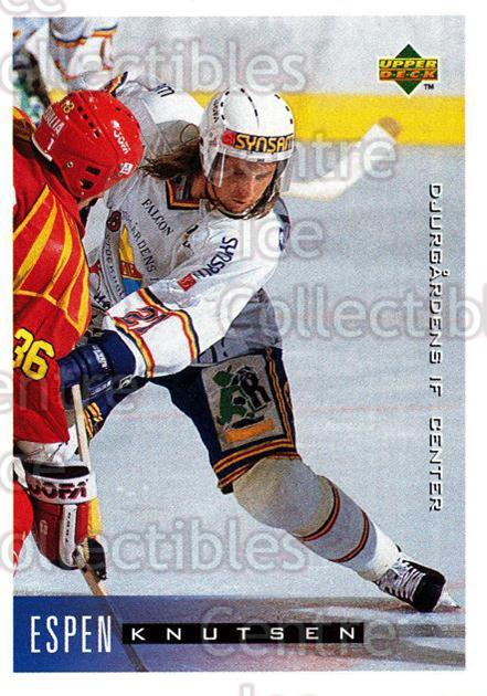 1995-96 Swedish Upper Deck #51 Espen Knutsen<br/>10 In Stock - $2.00 each - <a href=https://centericecollectibles.foxycart.com/cart?name=1995-96%20Swedish%20Upper%20Deck%20%2351%20Espen%20Knutsen...&quantity_max=10&price=$2.00&code=184797 class=foxycart> Buy it now! </a>