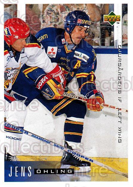 1995-96 Swedish Upper Deck #52 Jens Ohling<br/>11 In Stock - $2.00 each - <a href=https://centericecollectibles.foxycart.com/cart?name=1995-96%20Swedish%20Upper%20Deck%20%2352%20Jens%20Ohling...&price=$2.00&code=184798 class=foxycart> Buy it now! </a>
