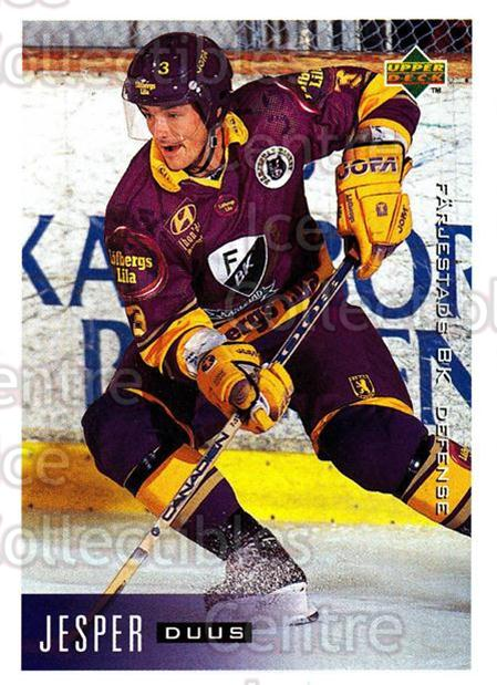 1995-96 Swedish Upper Deck #57 Jesper Duus<br/>8 In Stock - $2.00 each - <a href=https://centericecollectibles.foxycart.com/cart?name=1995-96%20Swedish%20Upper%20Deck%20%2357%20Jesper%20Duus...&quantity_max=8&price=$2.00&code=184801 class=foxycart> Buy it now! </a>