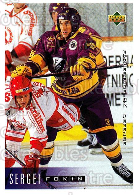 1995-96 Swedish Upper Deck #58 Sergei Fokin<br/>9 In Stock - $2.00 each - <a href=https://centericecollectibles.foxycart.com/cart?name=1995-96%20Swedish%20Upper%20Deck%20%2358%20Sergei%20Fokin...&quantity_max=9&price=$2.00&code=184802 class=foxycart> Buy it now! </a>