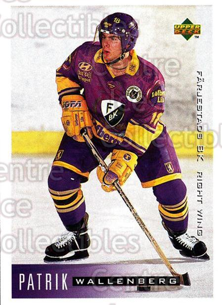 1995-96 Swedish Upper Deck #70 Patrik Wallenberg<br/>11 In Stock - $2.00 each - <a href=https://centericecollectibles.foxycart.com/cart?name=1995-96%20Swedish%20Upper%20Deck%20%2370%20Patrik%20Wallenbe...&quantity_max=11&price=$2.00&code=184807 class=foxycart> Buy it now! </a>