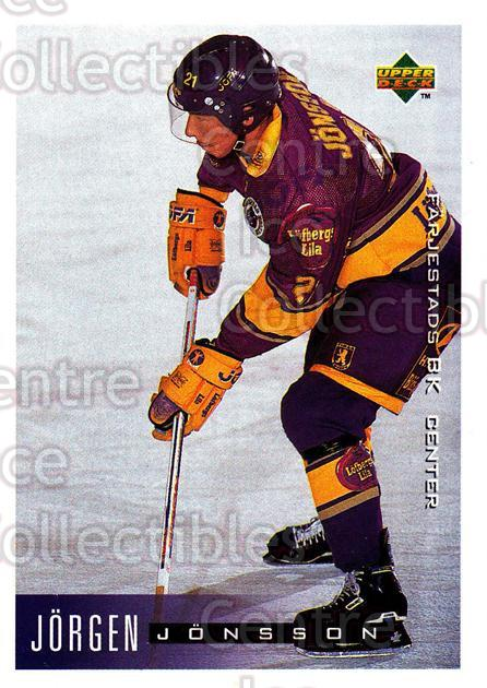 1995-96 Swedish Upper Deck #72 Jorgen Jonsson<br/>8 In Stock - $2.00 each - <a href=https://centericecollectibles.foxycart.com/cart?name=1995-96%20Swedish%20Upper%20Deck%20%2372%20Jorgen%20Jonsson...&quantity_max=8&price=$2.00&code=184808 class=foxycart> Buy it now! </a>