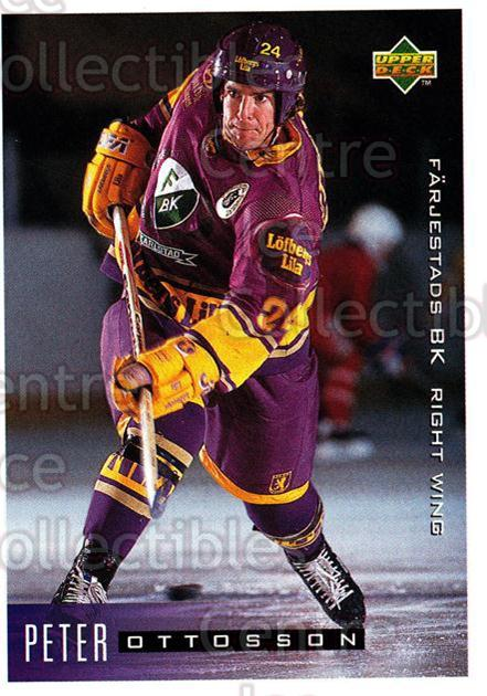 1995-96 Swedish Upper Deck #74 Peter Ottosson<br/>11 In Stock - $2.00 each - <a href=https://centericecollectibles.foxycart.com/cart?name=1995-96%20Swedish%20Upper%20Deck%20%2374%20Peter%20Ottosson...&quantity_max=11&price=$2.00&code=184809 class=foxycart> Buy it now! </a>