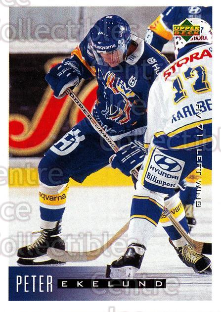 1995-96 Swedish Upper Deck #87 Peter Ekelund<br/>12 In Stock - $2.00 each - <a href=https://centericecollectibles.foxycart.com/cart?name=1995-96%20Swedish%20Upper%20Deck%20%2387%20Peter%20Ekelund...&price=$2.00&code=184814 class=foxycart> Buy it now! </a>