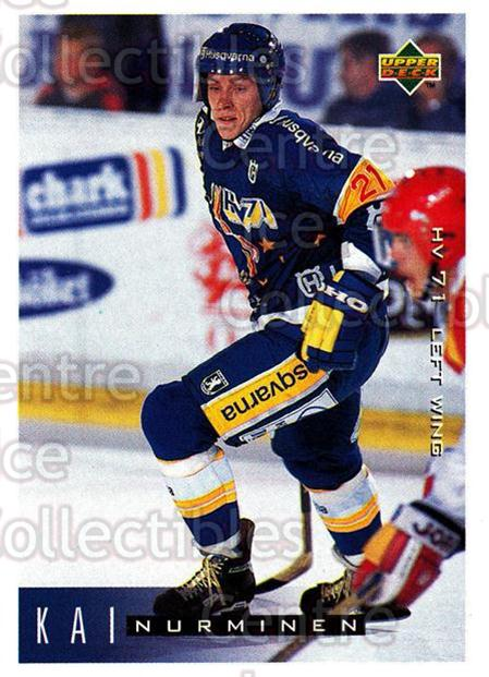 1995-96 Swedish Upper Deck #90 Kai Nurminen<br/>11 In Stock - $2.00 each - <a href=https://centericecollectibles.foxycart.com/cart?name=1995-96%20Swedish%20Upper%20Deck%20%2390%20Kai%20Nurminen...&price=$2.00&code=184816 class=foxycart> Buy it now! </a>