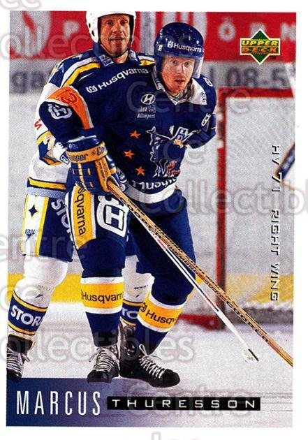 1995-96 Swedish Upper Deck #92 Marcus Thuresson<br/>10 In Stock - $2.00 each - <a href=https://centericecollectibles.foxycart.com/cart?name=1995-96%20Swedish%20Upper%20Deck%20%2392%20Marcus%20Thuresso...&price=$2.00&code=184817 class=foxycart> Buy it now! </a>