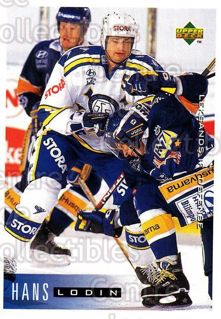 1995-96 Swedish Upper Deck #97 Hans Lodin<br/>9 In Stock - $2.00 each - <a href=https://centericecollectibles.foxycart.com/cart?name=1995-96%20Swedish%20Upper%20Deck%20%2397%20Hans%20Lodin...&quantity_max=9&price=$2.00&code=184822 class=foxycart> Buy it now! </a>