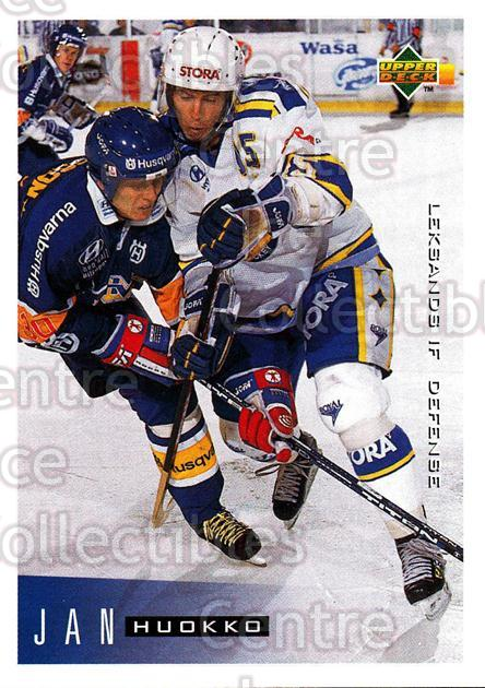 1995-96 Swedish Upper Deck #99 Jan Huokko<br/>12 In Stock - $2.00 each - <a href=https://centericecollectibles.foxycart.com/cart?name=1995-96%20Swedish%20Upper%20Deck%20%2399%20Jan%20Huokko...&quantity_max=12&price=$2.00&code=184824 class=foxycart> Buy it now! </a>