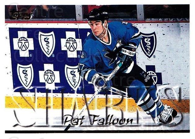 1995-96 Topps #147 Pat Falloon<br/>5 In Stock - $1.00 each - <a href=https://centericecollectibles.foxycart.com/cart?name=1995-96%20Topps%20%23147%20Pat%20Falloon...&quantity_max=5&price=$1.00&code=184877 class=foxycart> Buy it now! </a>