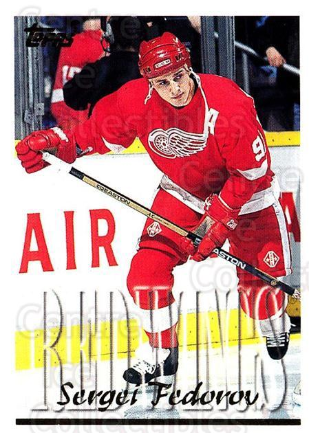 1995-96 Topps #185 Sergei Fedorov<br/>2 In Stock - $1.00 each - <a href=https://centericecollectibles.foxycart.com/cart?name=1995-96%20Topps%20%23185%20Sergei%20Fedorov...&quantity_max=2&price=$1.00&code=184918 class=foxycart> Buy it now! </a>