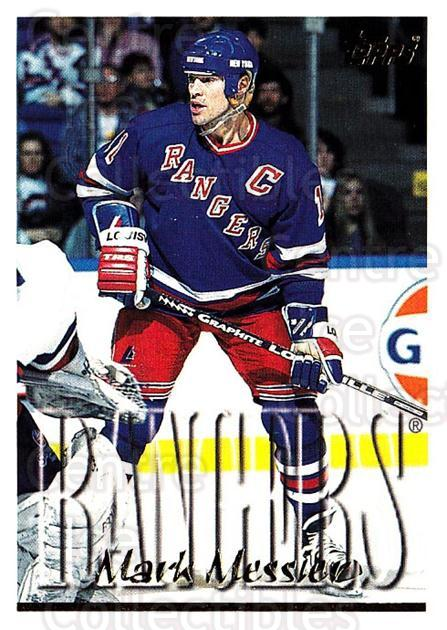 1995-96 Topps #240 Mark Messier<br/>3 In Stock - $1.00 each - <a href=https://centericecollectibles.foxycart.com/cart?name=1995-96%20Topps%20%23240%20Mark%20Messier...&quantity_max=3&price=$1.00&code=184979 class=foxycart> Buy it now! </a>