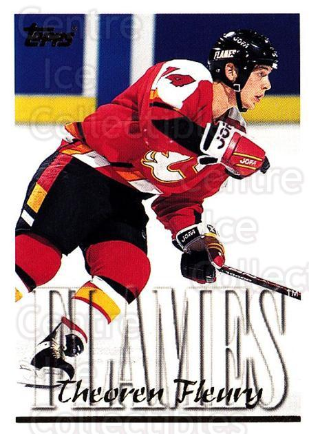 1995-96 Topps #25 Theo Fleury<br/>3 In Stock - $1.00 each - <a href=https://centericecollectibles.foxycart.com/cart?name=1995-96%20Topps%20%2325%20Theo%20Fleury...&quantity_max=3&price=$1.00&code=184989 class=foxycart> Buy it now! </a>