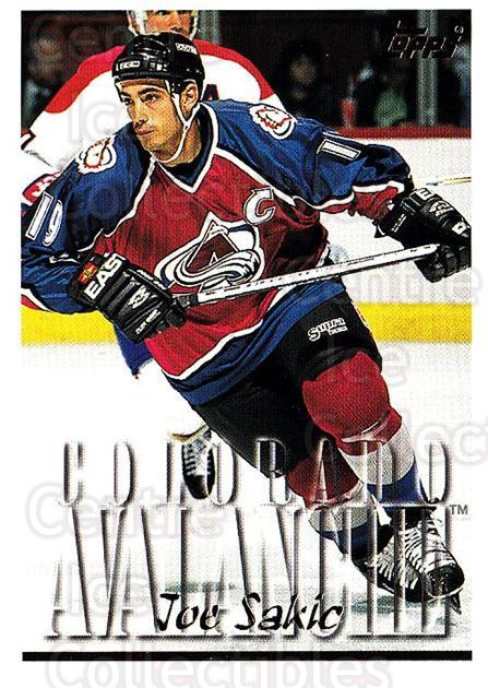 1995-96 Topps #266 Joe Sakic<br/>3 In Stock - $2.00 each - <a href=https://centericecollectibles.foxycart.com/cart?name=1995-96%20Topps%20%23266%20Joe%20Sakic...&quantity_max=3&price=$2.00&code=185007 class=foxycart> Buy it now! </a>