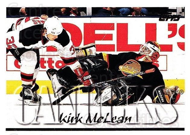1995-96 Topps #277 Kirk McLean<br/>1 In Stock - $1.00 each - <a href=https://centericecollectibles.foxycart.com/cart?name=1995-96%20Topps%20%23277%20Kirk%20McLean...&quantity_max=1&price=$1.00&code=185018 class=foxycart> Buy it now! </a>