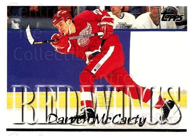 1995-96 Topps #28 Darren McCarty<br/>3 In Stock - $1.00 each - <a href=https://centericecollectibles.foxycart.com/cart?name=1995-96%20Topps%20%2328%20Darren%20McCarty...&quantity_max=3&price=$1.00&code=185021 class=foxycart> Buy it now! </a>