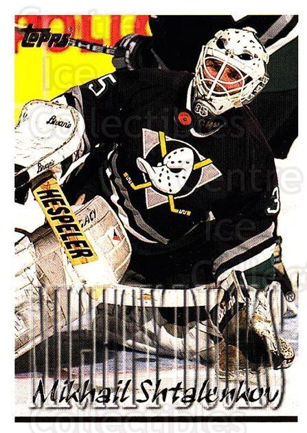 1995-96 Topps #344 Mikhail Shtalenkov<br/>3 In Stock - $1.00 each - <a href=https://centericecollectibles.foxycart.com/cart?name=1995-96%20Topps%20%23344%20Mikhail%20Shtalen...&quantity_max=3&price=$1.00&code=185091 class=foxycart> Buy it now! </a>