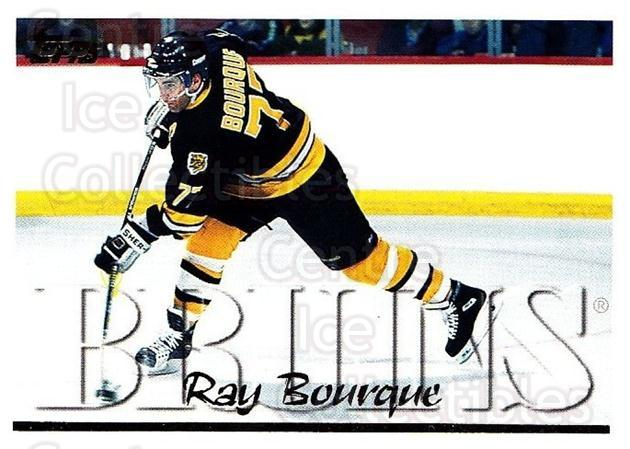 1995-96 Topps #50 Ray Bourque<br/>3 In Stock - $1.00 each - <a href=https://centericecollectibles.foxycart.com/cart?name=1995-96%20Topps%20%2350%20Ray%20Bourque...&quantity_max=3&price=$1.00&code=185150 class=foxycart> Buy it now! </a>