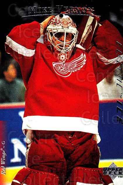 1995-96 Upper Deck Electric Ice #4 Mike Vernon<br/>2 In Stock - $2.00 each - <a href=https://centericecollectibles.foxycart.com/cart?name=1995-96%20Upper%20Deck%20Electric%20Ice%20%234%20Mike%20Vernon...&quantity_max=2&price=$2.00&code=185898 class=foxycart> Buy it now! </a>