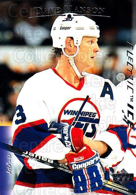 1995-96 Upper Deck Electric Ice #51 Dave Manson<br/>6 In Stock - $2.00 each - <a href=https://centericecollectibles.foxycart.com/cart?name=1995-96%20Upper%20Deck%20Electric%20Ice%20%2351%20Dave%20Manson...&quantity_max=6&price=$2.00&code=186011 class=foxycart> Buy it now! </a>
