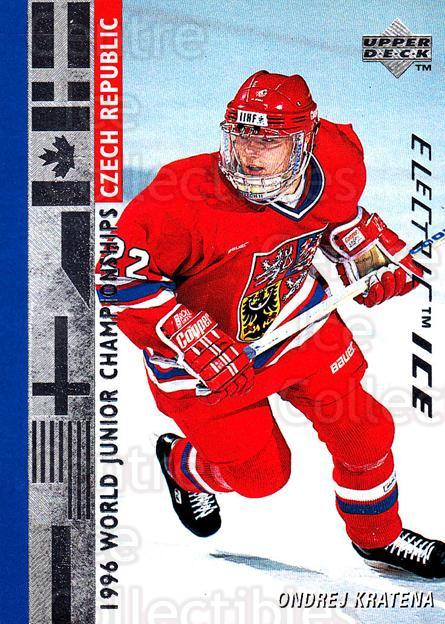 1995-96 Upper Deck Electric Ice #540 Ondrej Kratena<br/>9 In Stock - $2.00 each - <a href=https://centericecollectibles.foxycart.com/cart?name=1995-96%20Upper%20Deck%20Electric%20Ice%20%23540%20Ondrej%20Kratena...&quantity_max=9&price=$2.00&code=186037 class=foxycart> Buy it now! </a>